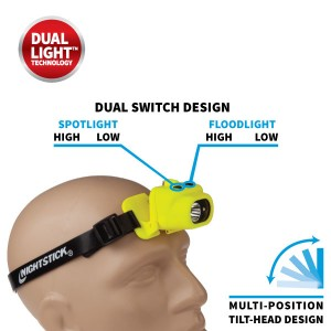 Intrinsically Safe Multi-Function Dual-Light™ Headlamp